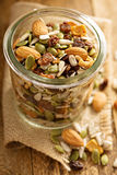 Dried fruit and nuts trail mix Stock Photos