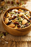 Dried fruit and nuts trail mix Stock Photo