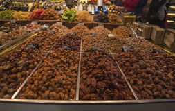 Dried fruit, pastries Stock Image