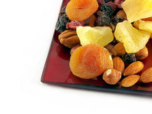 Dried fruit on plate Royalty Free Stock Photography