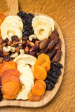 Dried Fruit Platter Stock Images