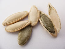 Dried fruit pumpkin seeds and interior paintings Stock Image