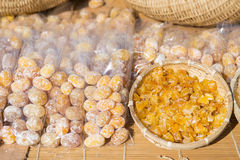 Dried fruit for sale in market Royalty Free Stock Photography