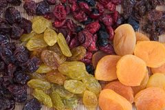 Dried fruit selections Royalty Free Stock Photos