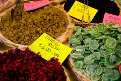 Dried fruit selections Stock Photography