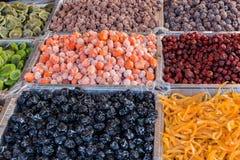 Dried fruit snacks Royalty Free Stock Photo