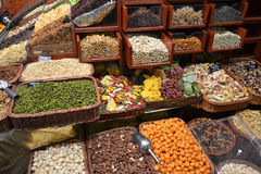 Dried fruit stall Stock Images