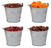 Dried fruit - sultanas,  apricots, cranberries and raisins - in Royalty Free Stock Photography