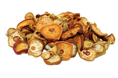 Dried fruit. Sweet pears dried in the summer sun Stock Photos