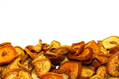 Dried fruit. Sweet pears dried in the summer sun Royalty Free Stock Image