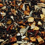 Dried fruit tropical tea background Stock Photos
