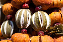 Dried fruit, vegetables and spices at the fair Royalty Free Stock Photo