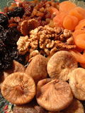 Dried Fruit and Walnuts. Detail of still life .. dried fruit Stock Photography