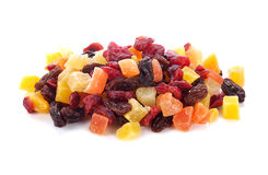 Dried fruit. On a white background Royalty Free Stock Photos