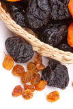 Dried fruits. On white background Royalty Free Stock Images