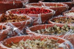 Dried fruits. On a marked in Italy Royalty Free Stock Photography