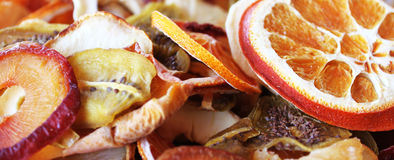 Dried fruits. Colorful Dried slices of fruits Royalty Free Stock Photography