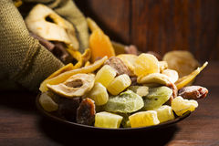 Dried fruits Royalty Free Stock Photography