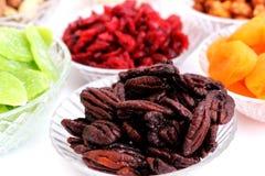 Dried fruits and almonds - symbols of judaic holiday Tu Bishvat Royalty Free Stock Photo