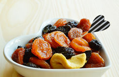 Dried fruits Apple, Pear, Prune, apricots Royalty Free Stock Photo