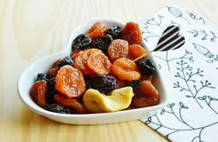 Dried fruits Apple, Pear, Prune, apricots Stock Photo