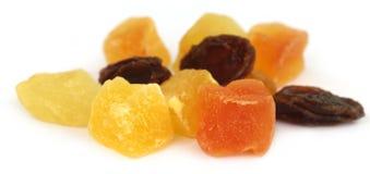 Dried fruits apricot, papaya and raisin Royalty Free Stock Photos