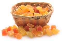 Dried fruits. Apricot and papaya with some others royalty free stock photography