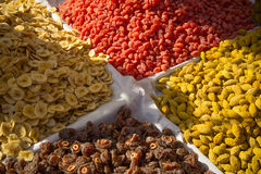 Dried fruits from Asia royalty free stock photos
