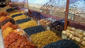 Dried fruits assortment stock video