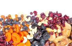 Dried fruits assortment Stock Image