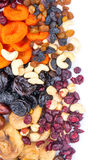 Dried fruits assortment Royalty Free Stock Images