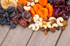 Dried fruits assortment Stock Photo