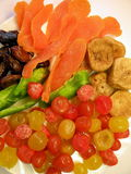 Dried fruits background Royalty Free Stock Images