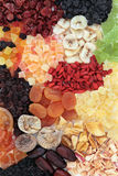 Dried Fruits Background Stock Photo