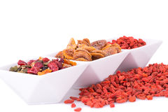 Dried fruits and berries Stock Photos