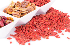Dried fruits and berries Royalty Free Stock Photos