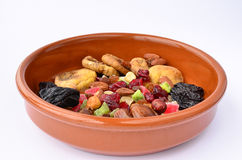 Dried fruits in a bowl Stock Images