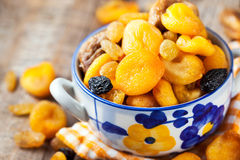 Dried fruits in a bowl Royalty Free Stock Photos