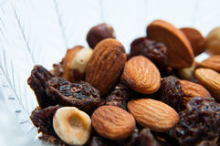Dried fruits bowl Stock Photos