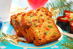 Dried fruits cake for christmas royalty free stock photos