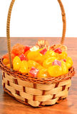Dried fruits and candied fruit in the basket Royalty Free Stock Images