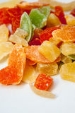 Dried fruits candies Royalty Free Stock Image