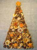 Dried fruits Christmas tree royalty free stock image
