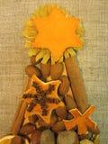 Dried fruits Christmas tree royalty free stock photo