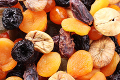 Dried fruits close up Royalty Free Stock Photos
