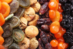 Dried fruits close up Royalty Free Stock Photography