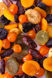 Dried fruits close up stock photography