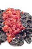Dried fruits close up stock images
