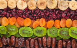 Dried fruits close up Royalty Free Stock Photo