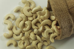 Dried fruits , Close ups of Cashew nuts Royalty Free Stock Images
